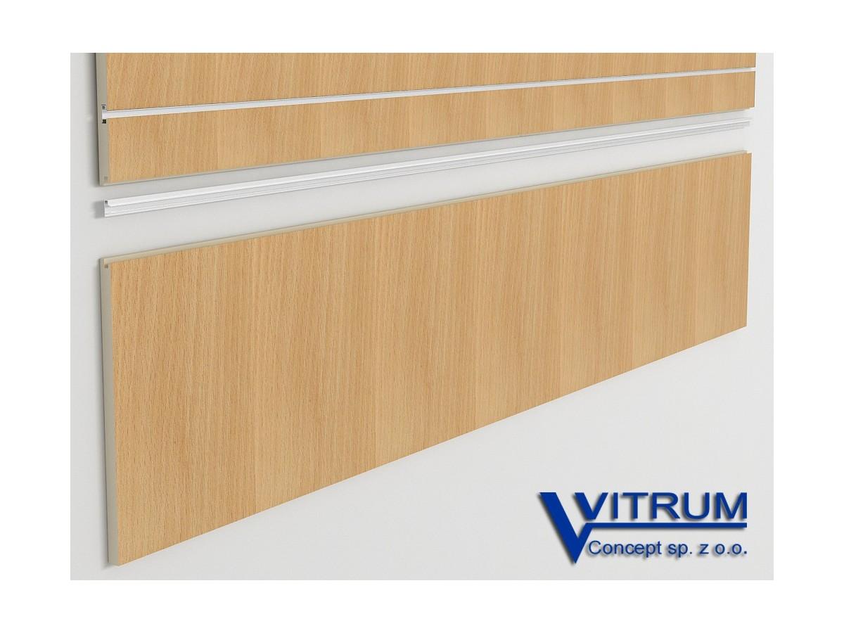 Panel ścienny cokołowy buk 200x45 cm
