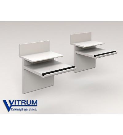 Podpora Aluminiowa Półki Szklanej 8 Mm