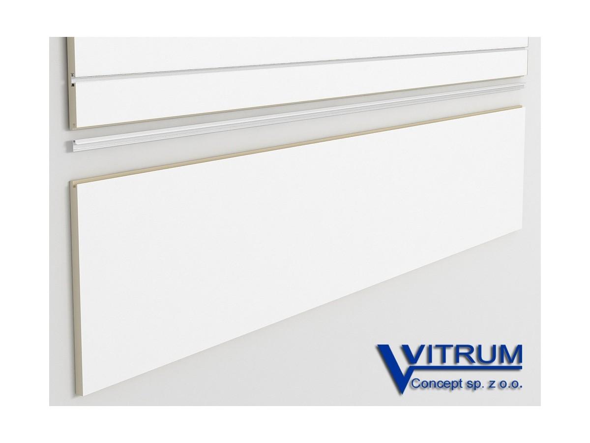 Panel ścienny cokołowy biały 200x45 cm
