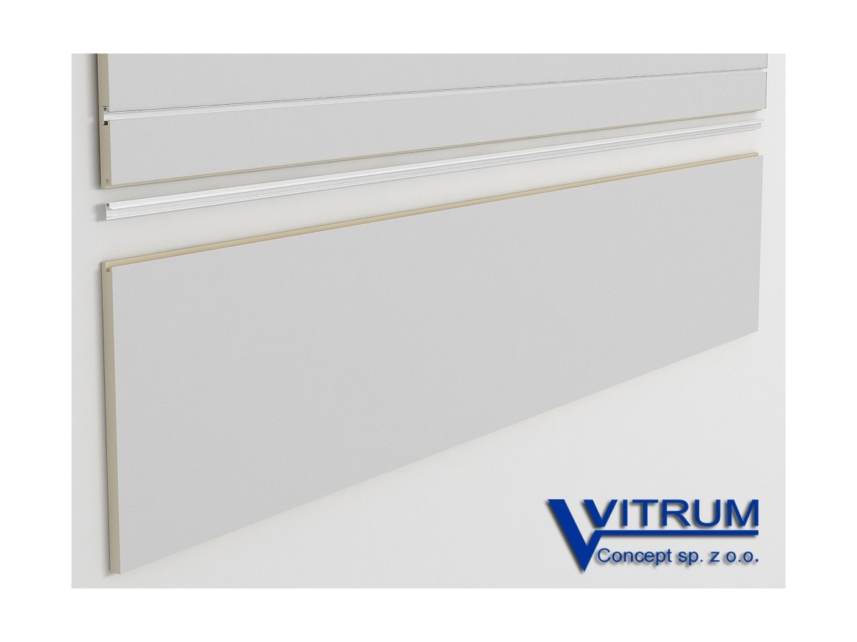 Panel ścienny cokołowy szary 200x45 cm