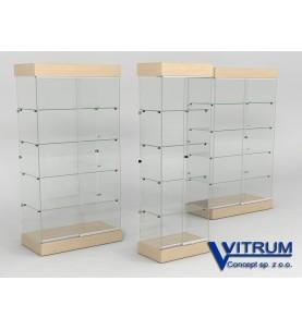 Gabloty szklane z oświetleniem