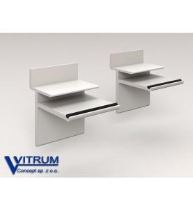 Wspornik aluminiowy pod półkę do paneli ściennych