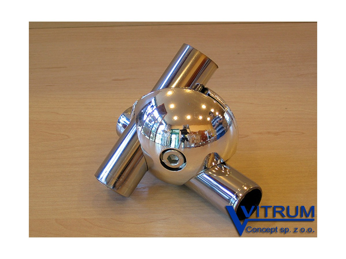 Złączka podwójna kulista do rury 25 mm, prawa lub lewa