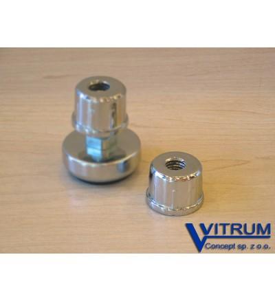 Zaślepka metalowa z gwintem, 25 mm